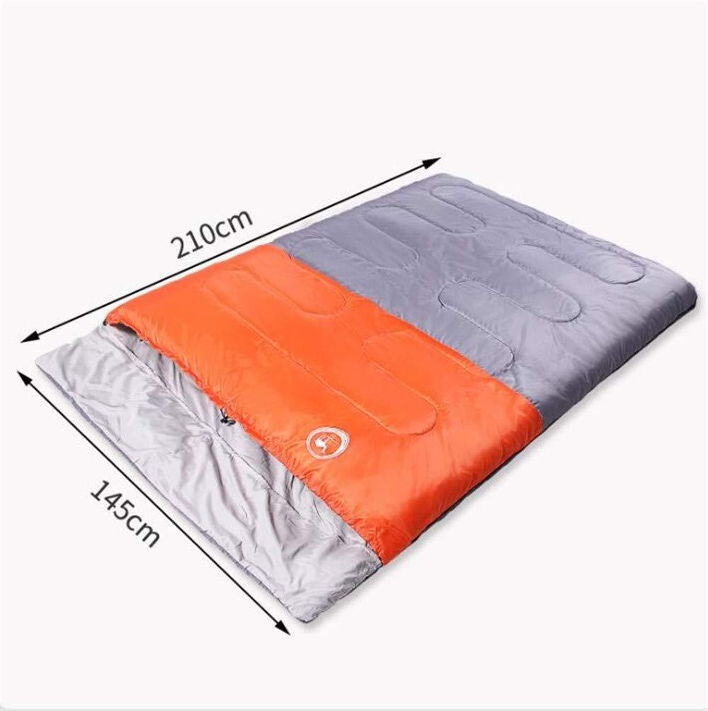 GYK Boutique Saco de Dormir Doble Exterior de Interior para Adultos, Azul