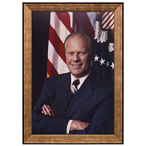 Portrait of Gerald R Ford (38th President of the United States) American Presidents Series Framed Art Print