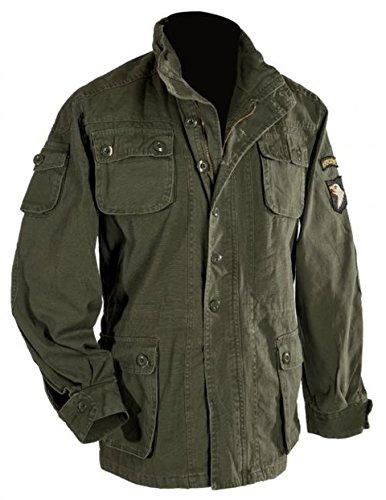 Verde Xs Airborne Con Cappuccio Vintage E Nero O Distintivo Taglie Usa Umidità Antivento Oversize Fodera Olive 5xl Oliva Parka Zp4xqCwx