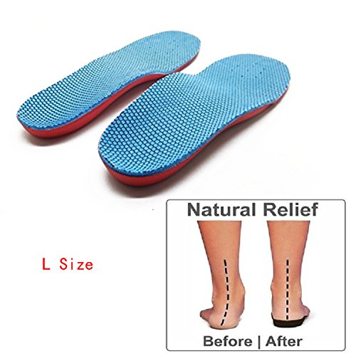 Orthotic Arch Support Flat Foot Flatfoot Correction Foot Pain Relief Shoe Insole for Children Kids L Size(32-35 size/20.5-22.8cm)