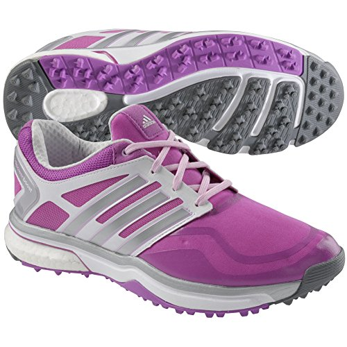 Closeout Womens Athletic Shoes - adidas Adipower Sport Boost Spikeless Golf Shoes Women Closeout Pink/Silver/White Medium 5.5