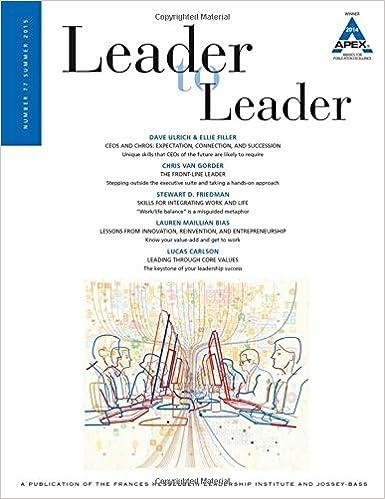 Leader to Leader (LTL), Summer 2015 (J-B Single Issue Leader