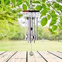 """punada Wind Chimes Outdoor, 22"""" Wind Chimes Amazing Grace with 8 Aluminum Alloy Tubes Wind Chimes without Hooks, Perfect Decoration Windchimes for Patio, Balcony and Indoor (silver-2)"""