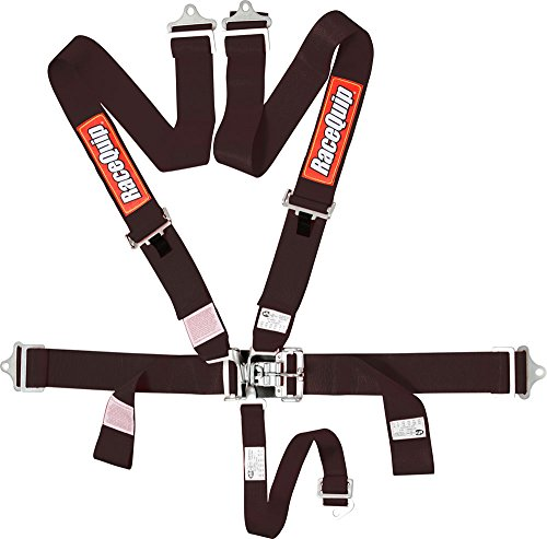 Racequip Black Pair 5 Point Harness with Individual Shoulder Belt Set of 2