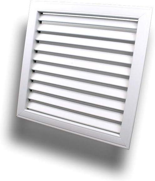Griglia di ventilazione da incasso griglia di protezione dagli agenti atmosferici griglia di scarico con lamelle rigide in plastica