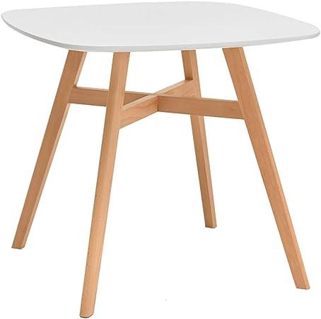 Htu Mesa de Comedor de Madera Mesa Cuadrada Simple y Mesa Cuadrada pequeña de Las sillas (Color : Blanco): Amazon.es: Hogar