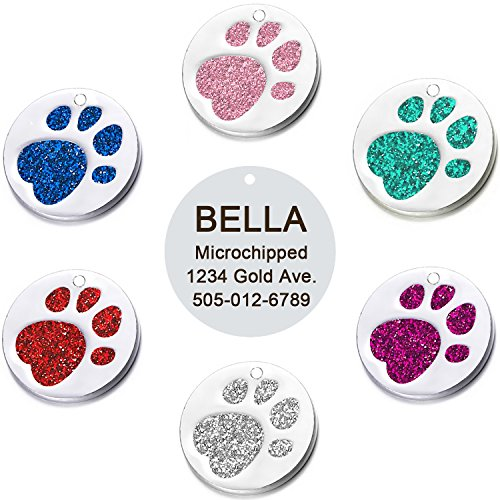 Vcalabashor Pet ID Tags for Medium Large Dogs & Cats/Round T