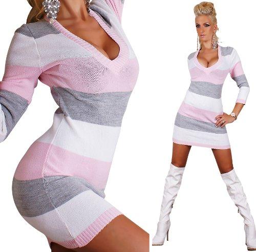 Strick Sexy Einheitsgröße Gr34 Kleid Pulli Pullover Long Langer 36 SVqpLzMGU