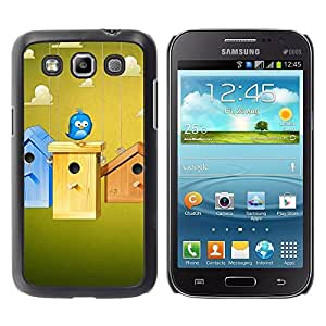 Be Good Phone Accessory // Dura Cáscara cubierta Protectora Caso Carcasa Funda de Protección para Samsung Galaxy Win I8550 I8552 Grand Quattro // Cute Blue Bird