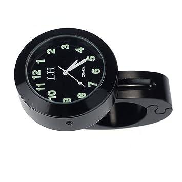 Dxlta Fahrrad Halterung Motorrad Lenkeruhr Mini Uhr wasserdichte W/ählen Uhr Wei/ß//Schwarz