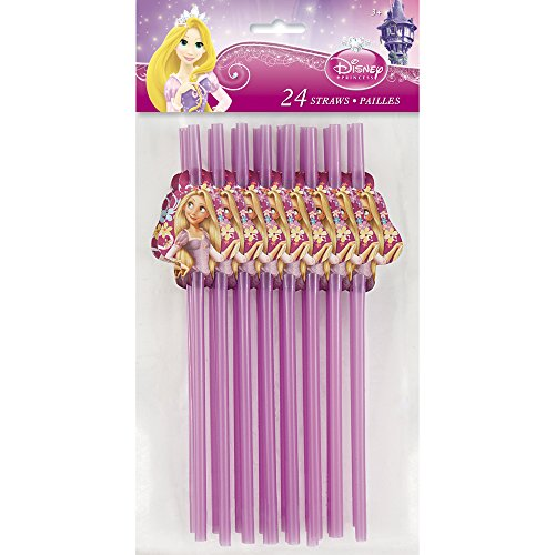 Disney Tangled Party Straws, 24ct ()