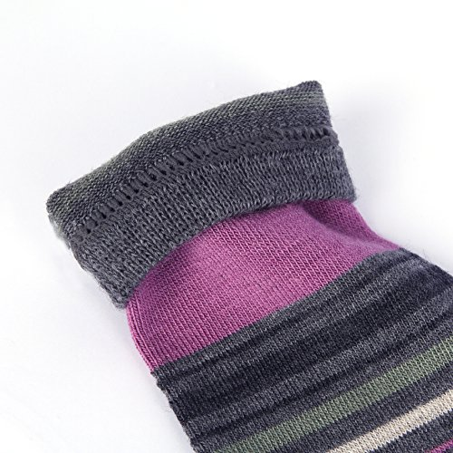 Enerwear 4 Pack Women's Merino Wool Outdoor Hiking Trail Crew Sock (US Shoe Size 4-10½, Violet/Gray/Multi) by Enerwear (Image #7)