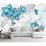 Carta Da Parati 3D Fotomurali Farfalla Fiore Gioielli Di Pietre Preziose Camera da Letto Decorazione da Muro XXL Poster… 51DrvAWUfvL. SS150