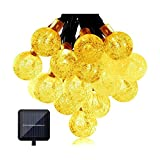 Cheerswill 30 LED Waterproof LED Solar String Lights Outdoor Light Strip Christmas Decorative Lights for Garden Parties Warm White Color