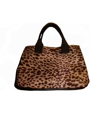 Women's Ew/Iconic Tote, Medium, Tan Spotted
