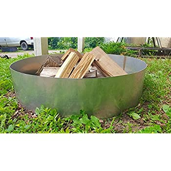Amazon Com Stainless Steel Fire Pit Ring Insert Liner 24