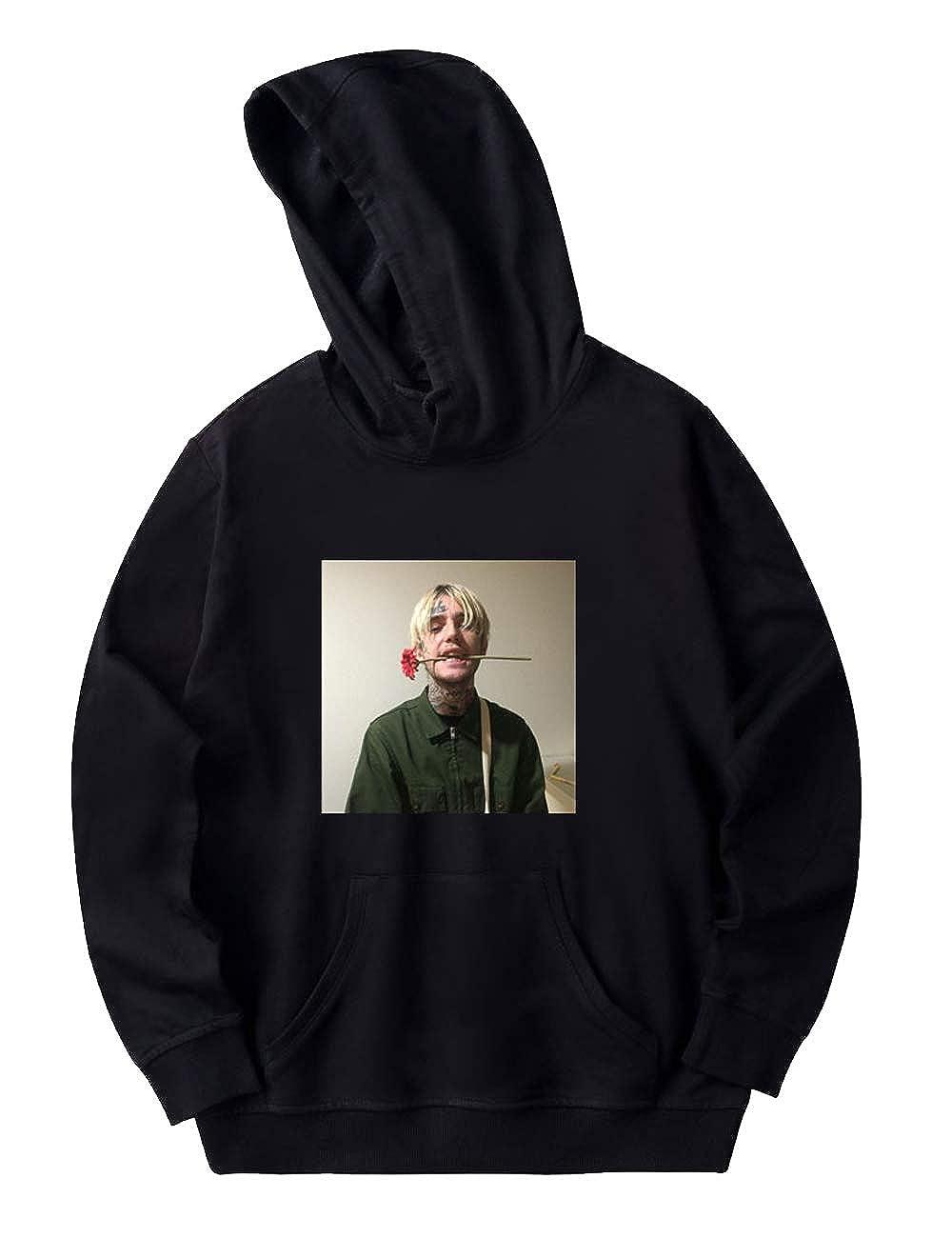 Lil Peep Felpa con Cappuccio per Donna,Trend Singer con Lil Peep Come Over When You?re Sober Tinta Unita Manica Lunga con Cappuccio Maglione Sweater Hoodie