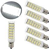 Ulight 6W E11 LED Light Bulb 60W 120v/130v Halogen Bulbs Equivalent Mini Candelabra jd E11 Base...