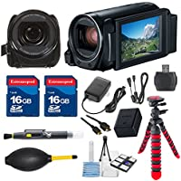 Canon VIXIA HF R80 HFR80 Camcorder with 2 pieces 16GB Memory Cards & Deluxe Accessory Bundle - International Version
