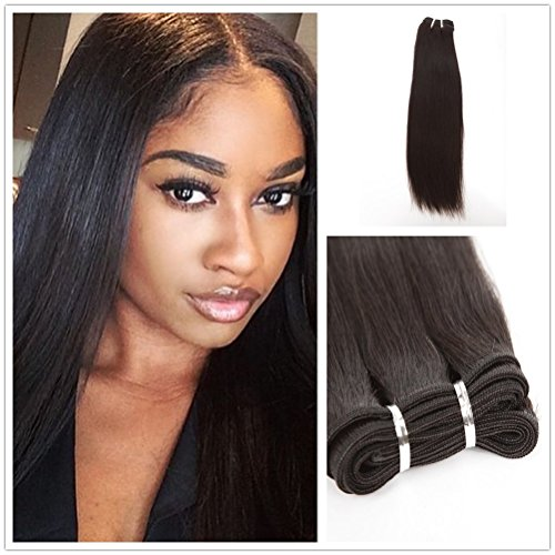 - Wigsroyal Human Hair Weave Coarse Yaki Virgin Hair 16 Inch,Natural Color,4Oz/Bundle, 2 Bundles(16