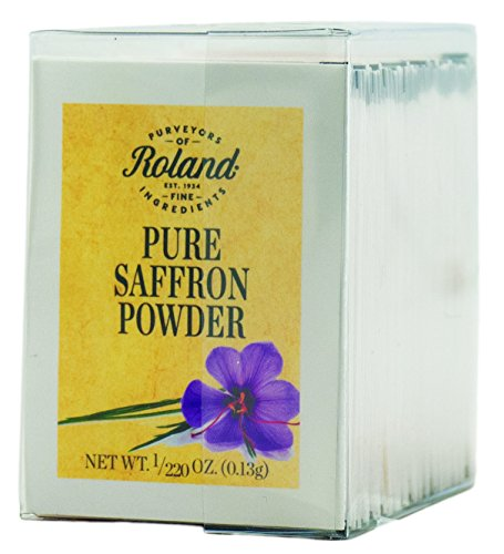 Roland Pure Saffron Powder, 50 Envelopes Net Wt. 1/220 Oz (0.13g) by Roland