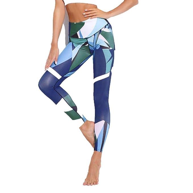 Mujer Pantalones Largos Mujeres Azul Oscuro Impresión ...