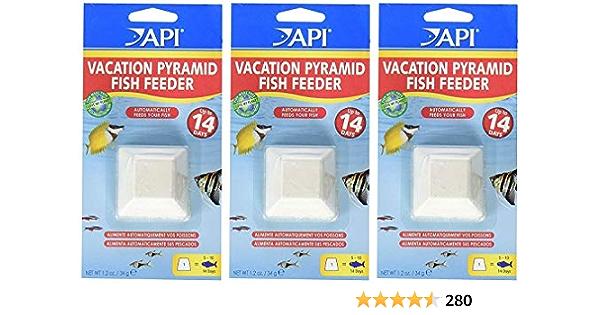 4 Pyramids Per Pack API 4 Pack of 3-Day Pyramid Fish Feeders