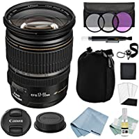 Canon EF-S 17-55mm f/2.8 IS USM Lens + Canon EF-S 17-55mm Lens Advanced Accessory Kit - Canon Lens Bundle Includes EVERYTHING You Need to Get Started