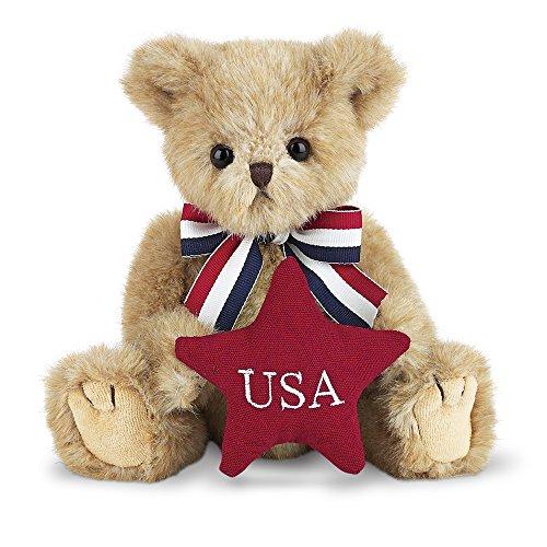 Bearington Peter Patriotic USA Plush Teddy Bear, 10