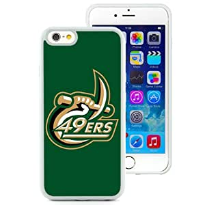 Beautiful Designed With Fcs North Carolina Charlotte 49ers 02 Protective Cell Phone Hardshell Cover Case For iPhone 6 4.7 Inch TPU Phone Case White