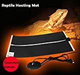 Reptile Heating Mat,Fashionclubs Under Tank Reptile Warmer Mat Heat Pad Heater with Temperature Controller,110V US Plug (7W 5.9''x11'')