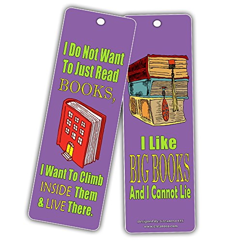 Creanoso Silly Hilarious Literary Bookmarks (60-Pack) – Insanely Funny and Inspiring Bookmarker Cards - Excellent School Teacher Classroom Rewards for Young Readers - Incentive Gifts for Bibliophiles by Creanoso (Image #3)
