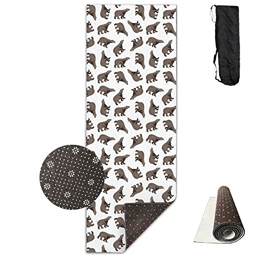 Non Slip Yoga Mat Happy 2018 Dog Year Premium Printed 24 X 71 Inches Great For Exercise Pilates Gymnastics Carrying Strap