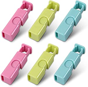 Cozihom Squeeze Bread Bag Clips, Bag Cinches, Bagel Bag Clips, Slip Grip Easy Squeeze & Lock, Assorted Color, 6 Pack