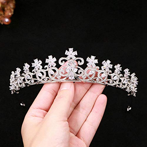 Banquet Zirconium Crown Tiara Diadem Hair Accessories Hair Ornaments Retro Crystal Diamond Hair Band Bprom Bridesmaid Headdress