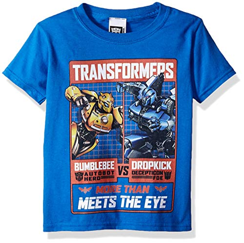 Transformers Big Bumblebee Movie Fight Poster Boys Tee, Royal S-8]()