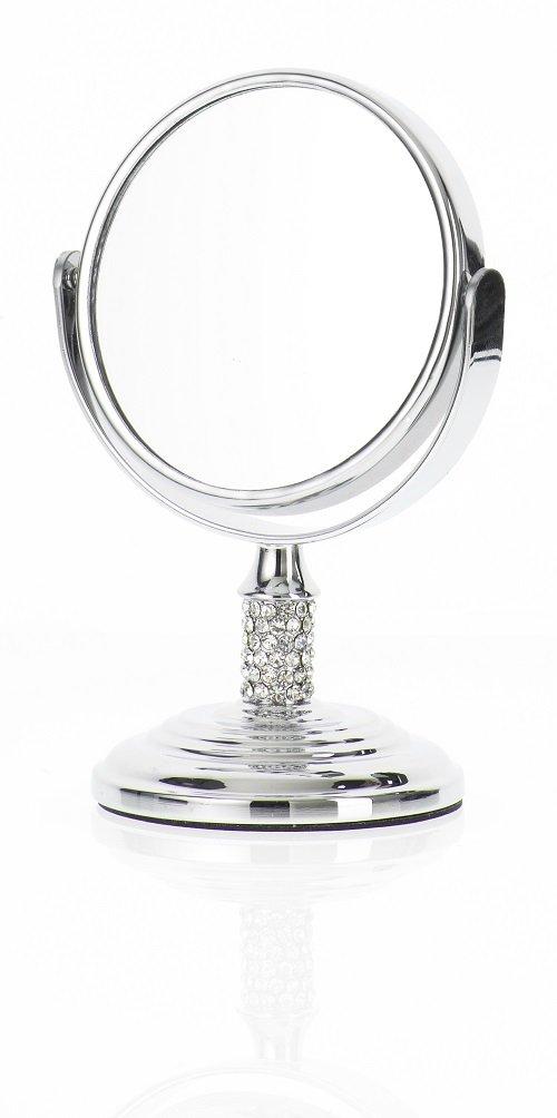 Danielle espejo de aumento de pie con 4 aumentos, con una pequeña bola en el diseño de cromo brillo, 8,5 cm D627