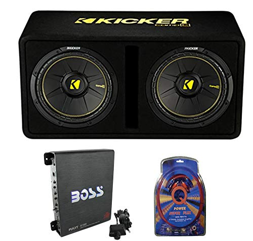 Kicker 44DCWC122 12″ 1200W Car Audio Subwoofer Sub Enclosure+Mono Amplifier Amp
