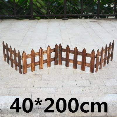 Shoppy Star Valla de Madera antiséptica para jardín, Valla de Madera, balcón, decoración de Patio, Valla de Madera para jardín, 40 cm de Altura.: Amazon.es: Jardín
