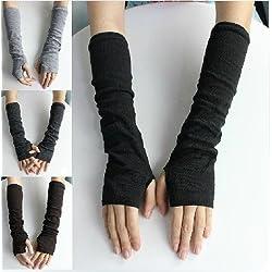 Womens Long Arm Sleeve Gloves (Fingerless), Novel and Trendy Fashion Christmas Gift