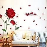 Kindergartens Cartoon Wall Stickers-Red Rose