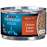 Pro Plan Canned Cat Food, Senior Ground Chicken and Beef Entrée, 3-Ounce Cans