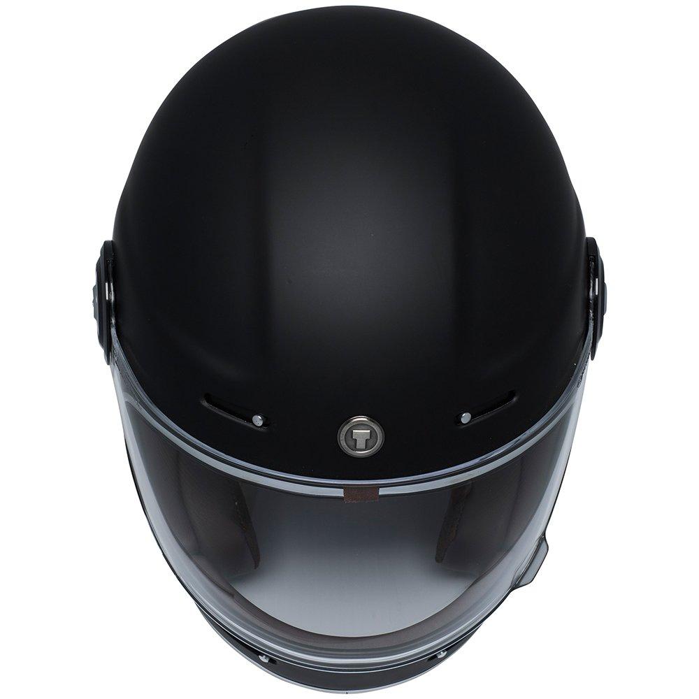 TORC T1 Retro - Casco de moto de fibra de vidrio de cara completa, color negro mate, talla S: Amazon.es: Coche y moto