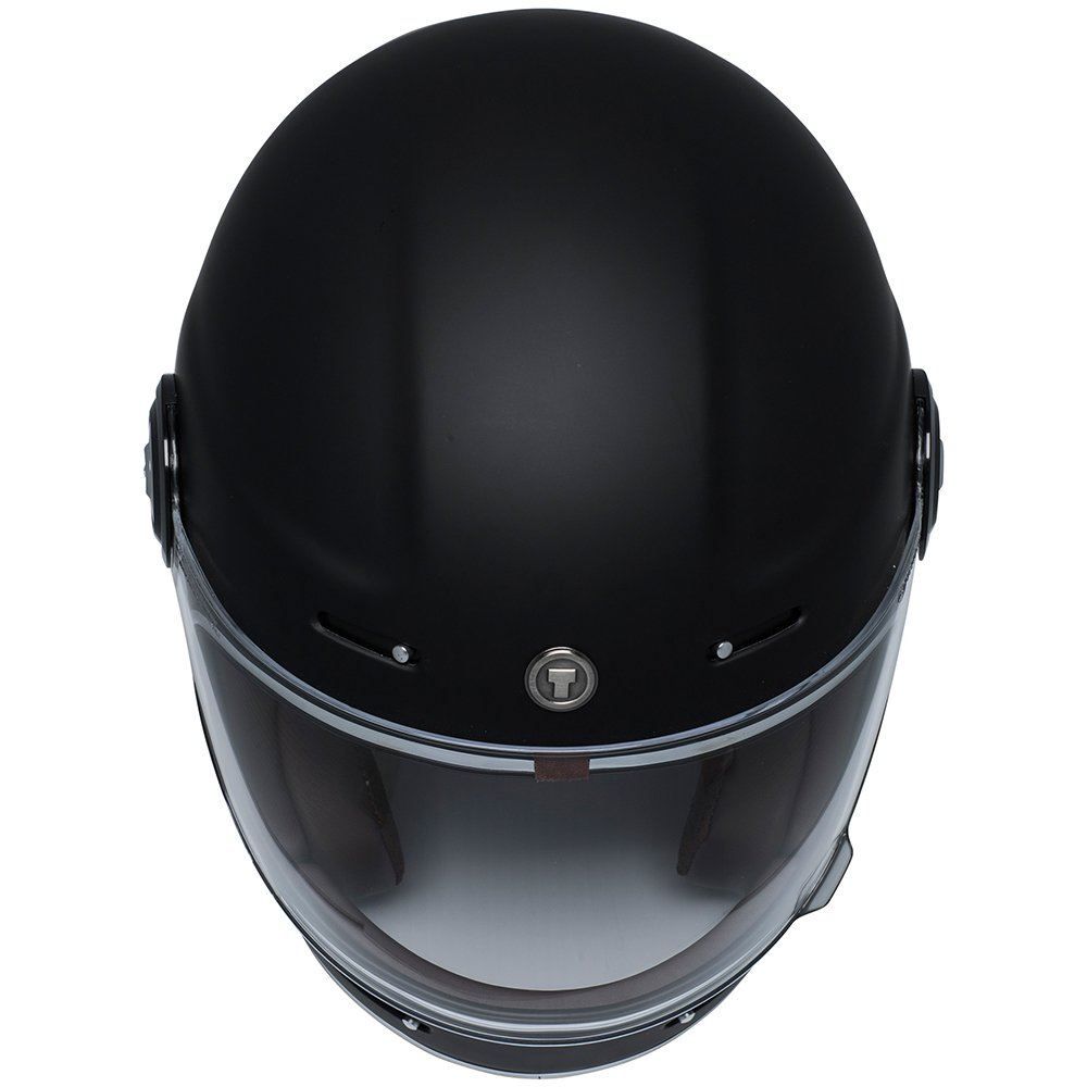 TORC Unisex-Adult T11523 Retro Fiberglass Full-Face Style Motorcycle Helmet (Matte Black, Medium), 1 Pack by TORC (Image #5)