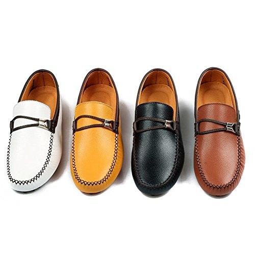 Zapatos Nuevos de Mocasines Negro Conducción HUAN de Para B Blanco Marrón Zapatos Conducción Hombre Slip Mocasines On Amarillo vWgwdgqx