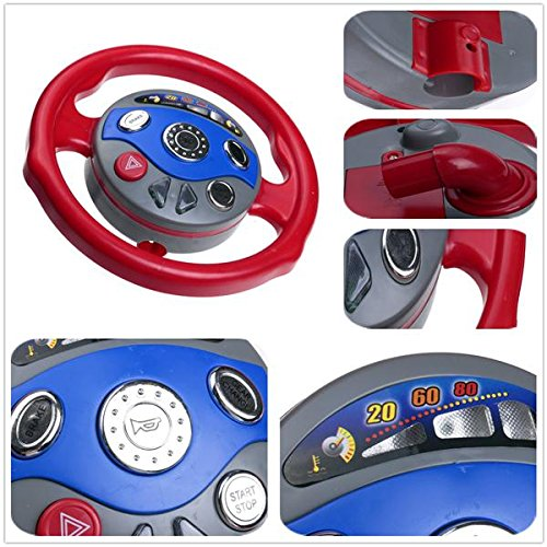 Kids Back Window Seat Toy Car Steering Wheel Game Horn Electronic Sounds Light (Jake And The Neverland Pirates Sleeping Bag)