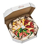 PIZZA SOCKS BOX 4 pairs MIX Hawaii Italian Pepperoni Cotton Socks L Made In EU
