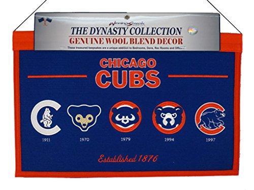 Winning Streak Chicago Cubs MLB 22x14 Logo Evolution Heritage Banner