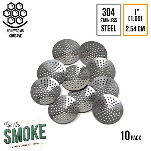 1 (1.00 inch   2.54 cm) Premium Curved 304 Stainless Steel Concave Pipe Screens (10 Pack) ...