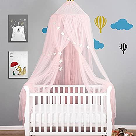 Mofeng Round Baby Bed Mosquito Net Mesh Dome Hanging Cotton Bed Canopy Play  Tent Bedding For